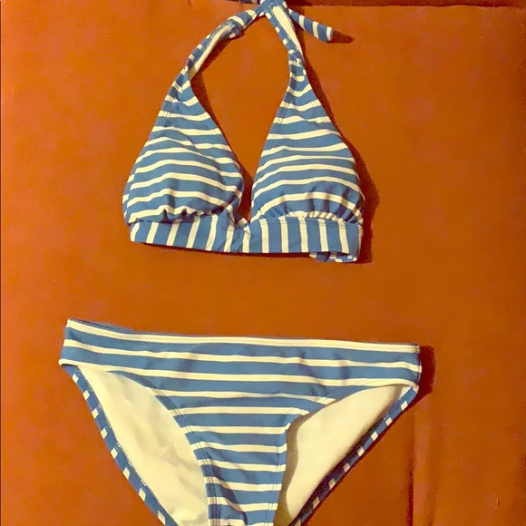 Old Navy Other - Blue striped bikini